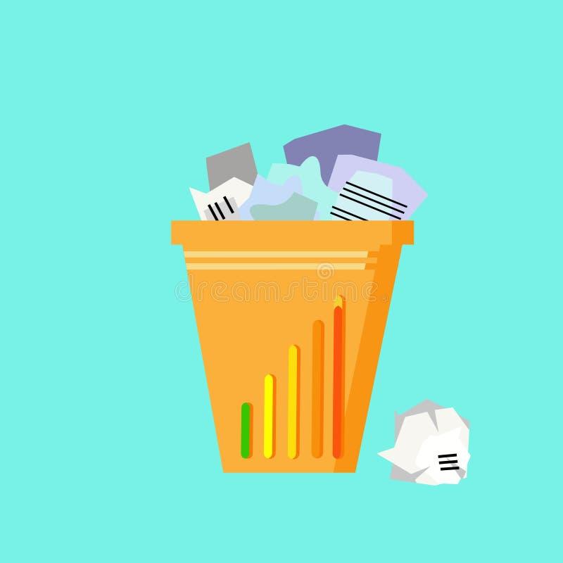 Download 垃圾回收站垃圾平的传染媒介 向量例证. 插画 包括有 设备, 长期, 平面, 大型垃圾桶, bataan - 62525855