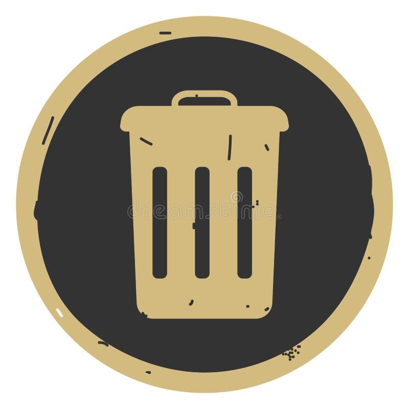 垃圾容器象在灰色背景的传染媒介例证 库存例证