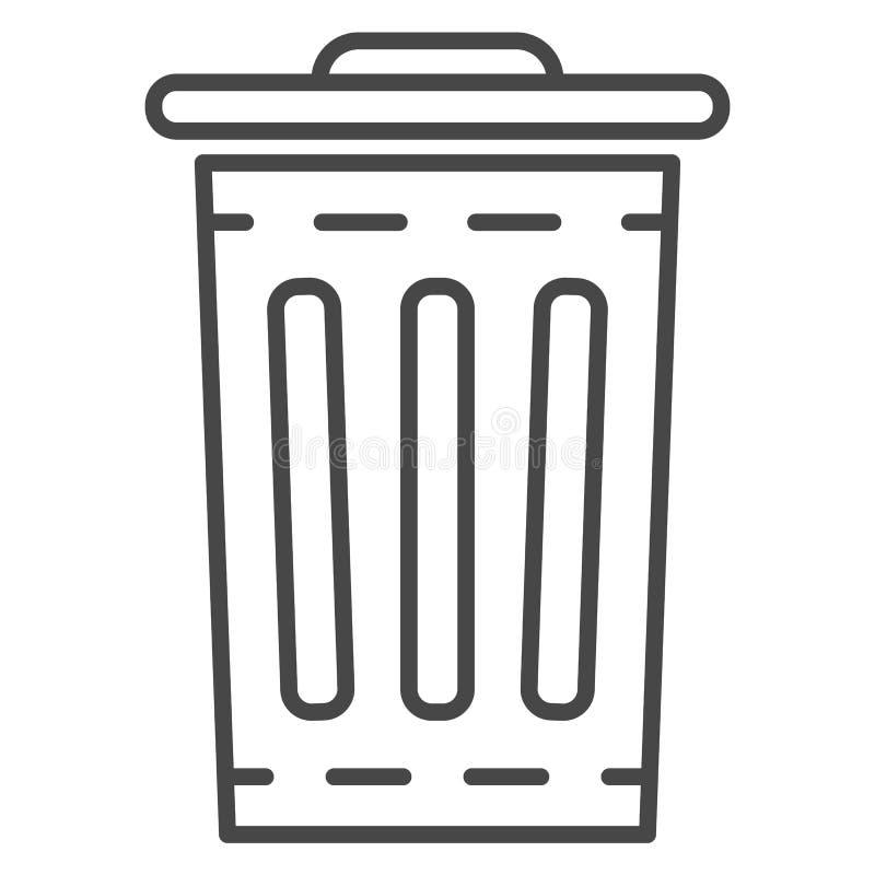 垃圾桶象,概述样式 向量例证