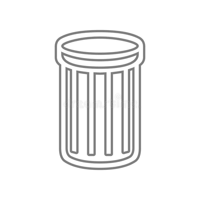 垃圾桶象 网的元素流动概念和网应用程序象的 r 库存例证