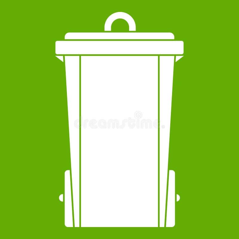 垃圾桶象绿色 库存例证