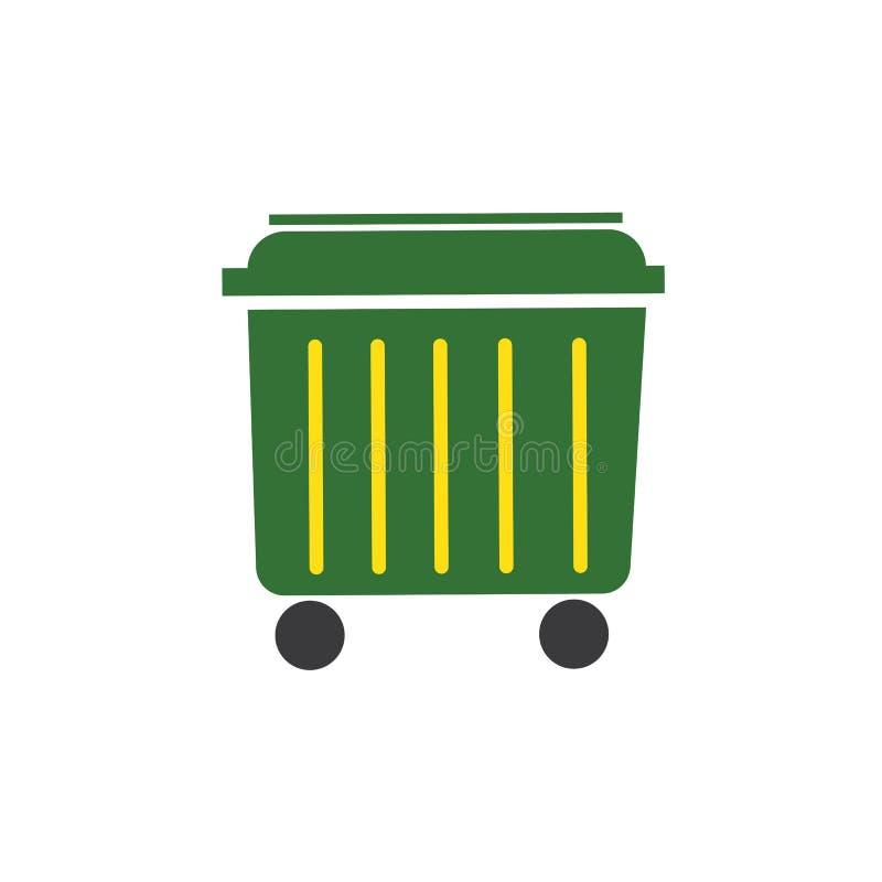 垃圾箱象传染媒介例证 向量例证