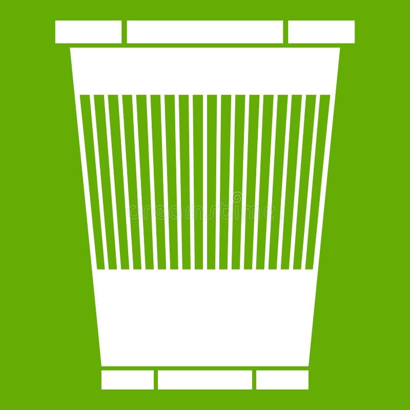 垃圾箱象绿色 库存例证