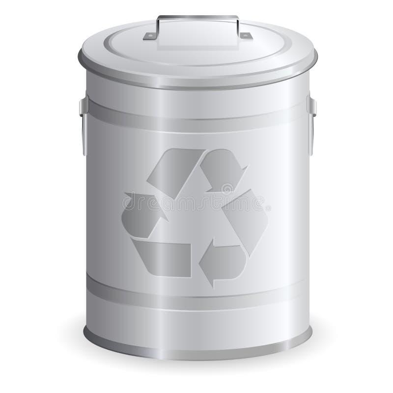 垃圾箱金属 皇族释放例证