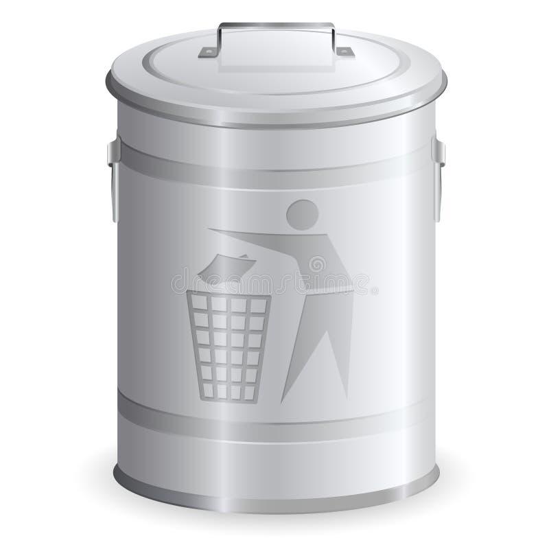 垃圾箱金属 库存例证