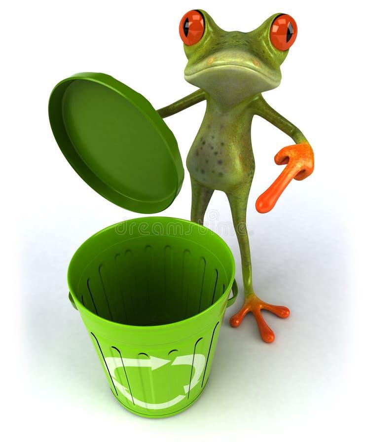 垃圾箱青蛙 库存例证