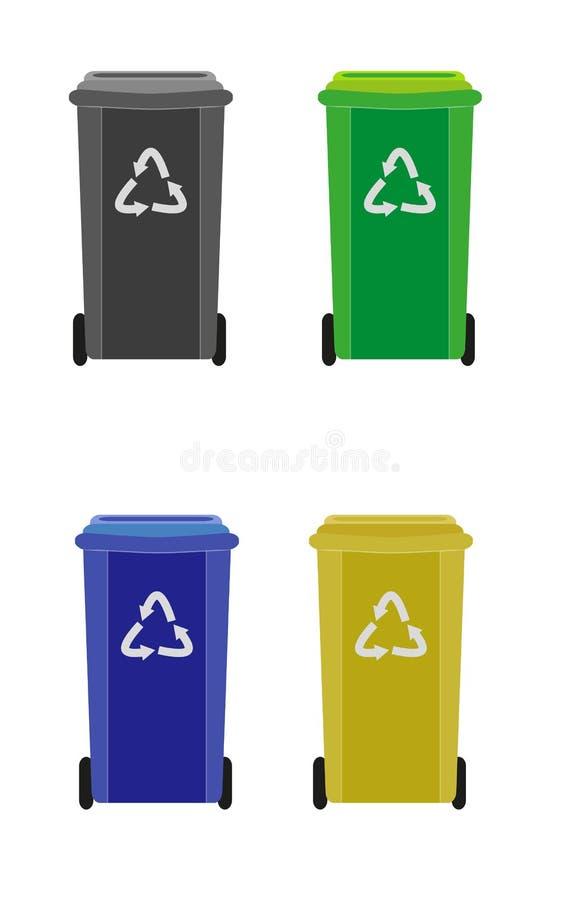 垃圾箱 向量例证