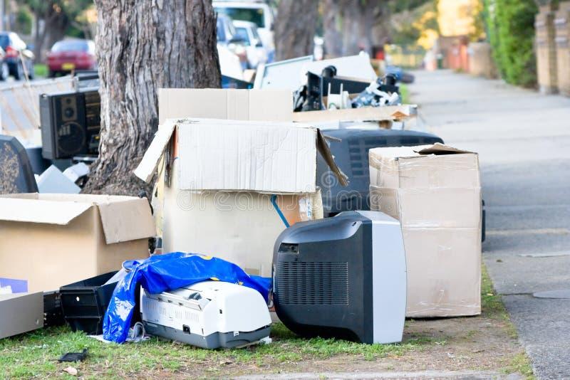 垃圾街道 免版税库存照片