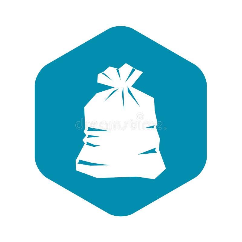 垃圾袋象,简单的样式 皇族释放例证