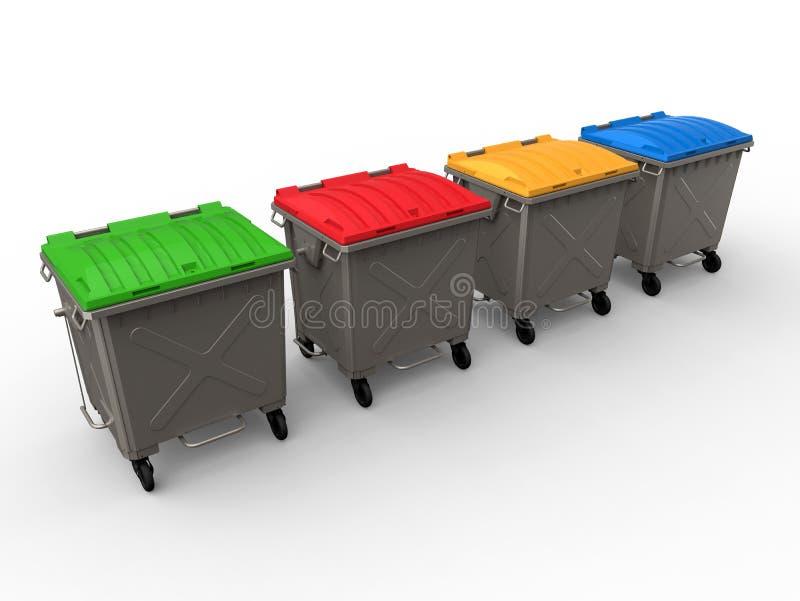 垃圾选择回收 向量例证