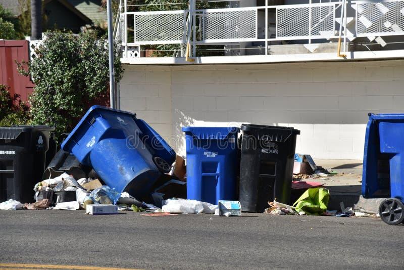 垃圾问题在洛杉矶 免版税库存图片