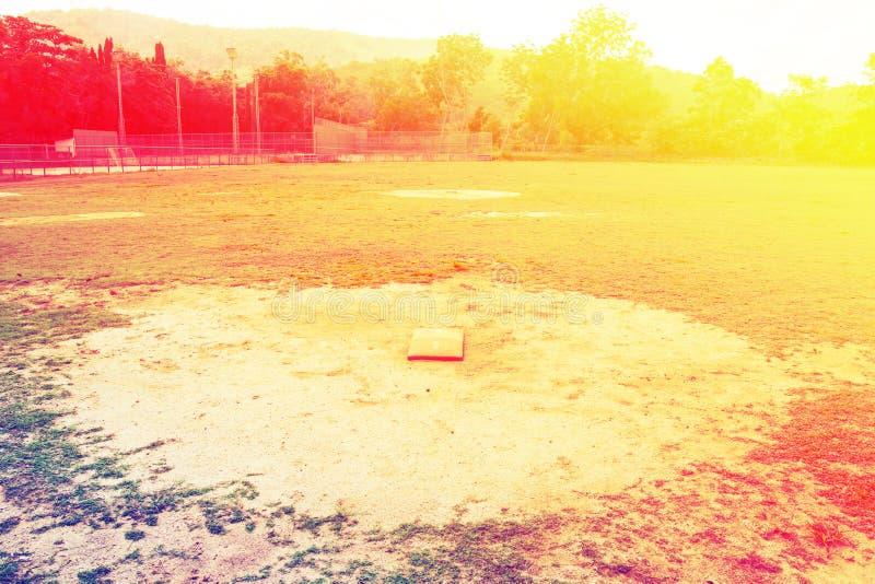 垒球场看法  库存图片