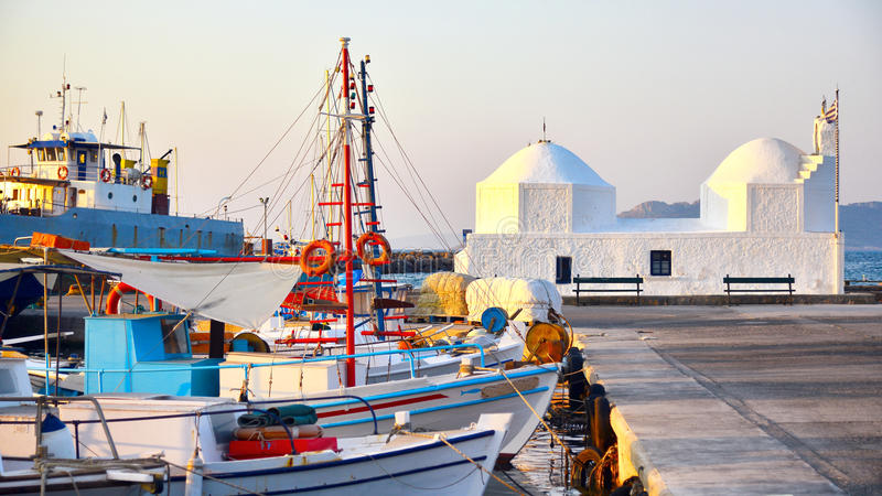 埃伊纳岛港口 库存图片