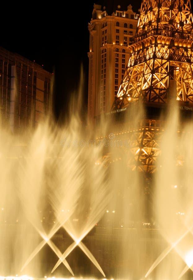 埃佛尔铁塔维加斯视图水 免版税库存照片