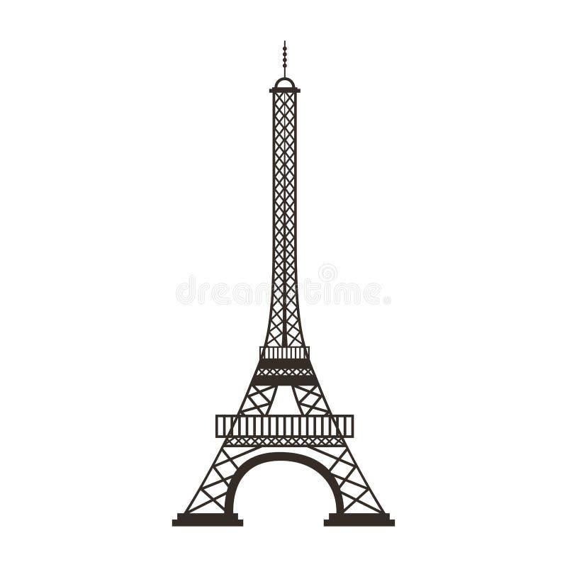 埃佛尔铁塔被隔绝的象 皇族释放例证