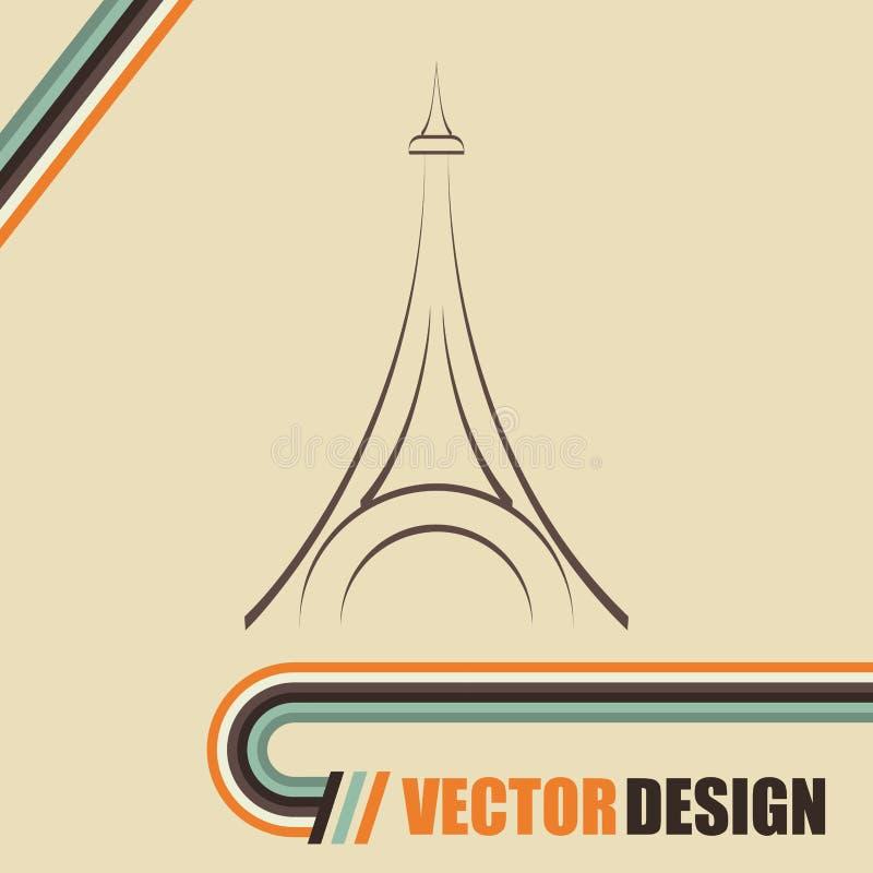 埃佛尔铁塔设计 皇族释放例证