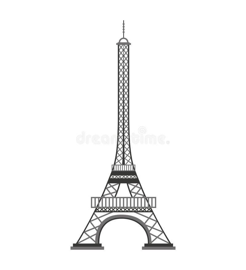 埃佛尔铁塔巴黎地标 向量例证