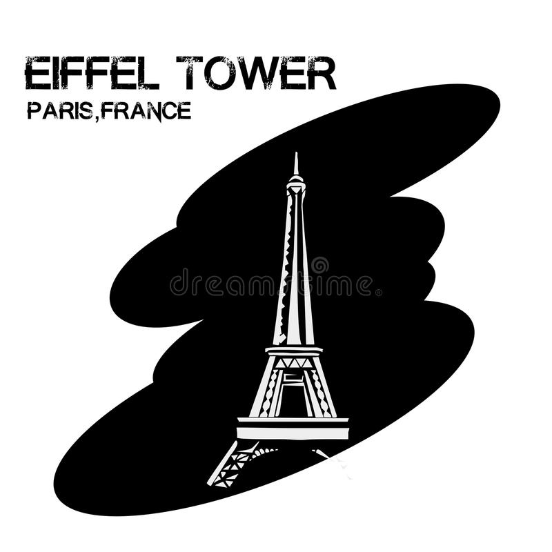 埃佛尔铁塔 向量例证