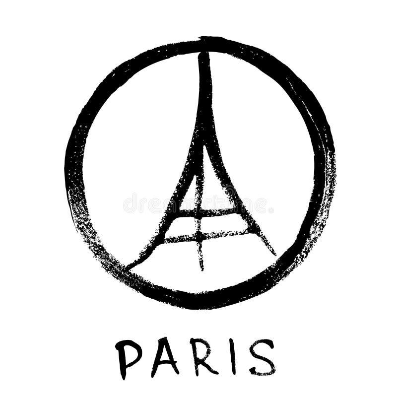 巴黎埃佛尔铁塔 库存例证