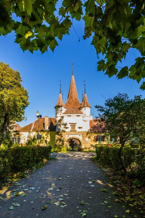 埃卡特琳娜门在布拉索夫,罗马尼亚 免版税库存照片