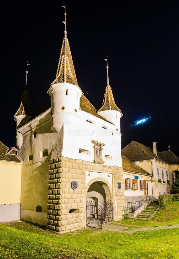 埃卡特琳娜门在布拉索夫,罗马尼亚 库存图片
