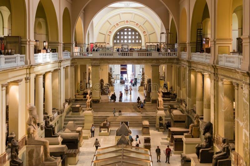 埃及上古博物馆-开罗国家博物馆内部在开罗 图库摄影
