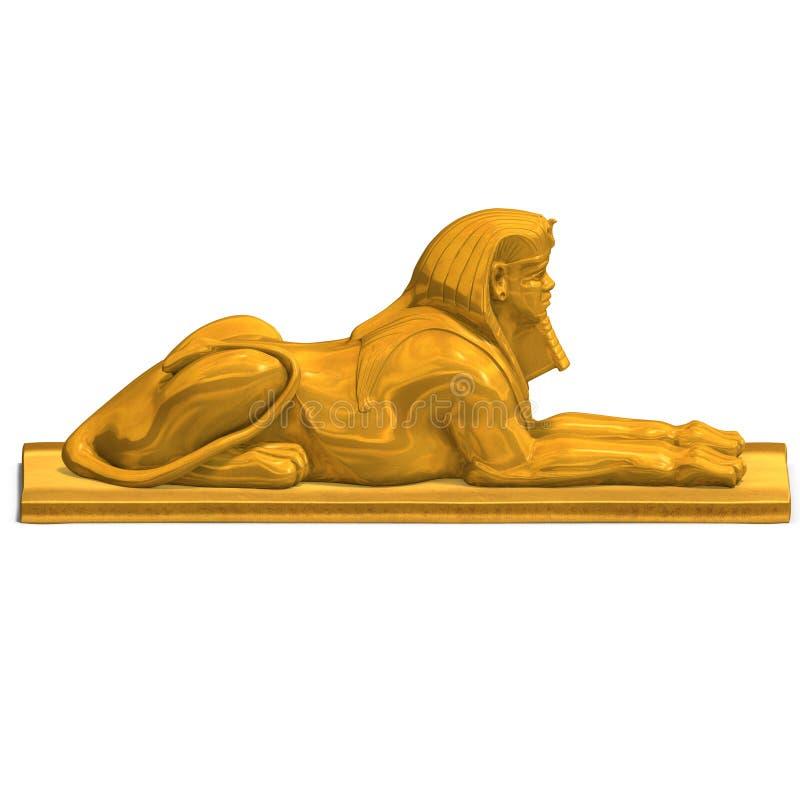 埃及人力雕象 库存例证