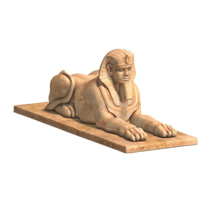 埃及人力雕象 皇族释放例证