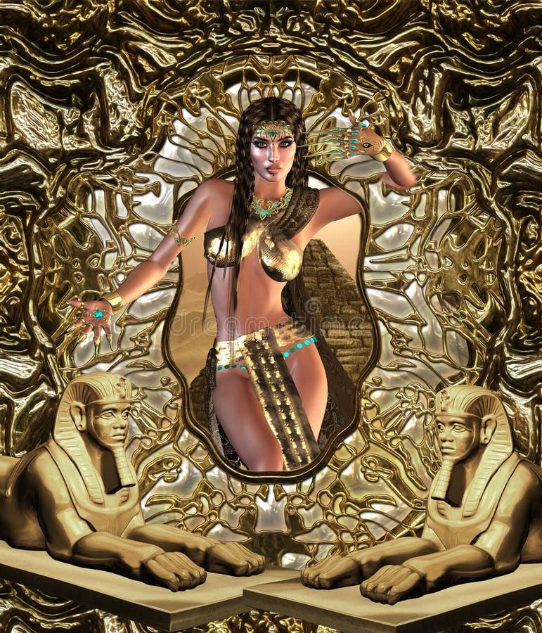 埃及人Seductress 库存例证