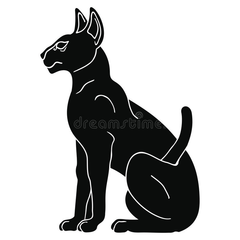 埃及人Sphynx猫 皇族释放例证