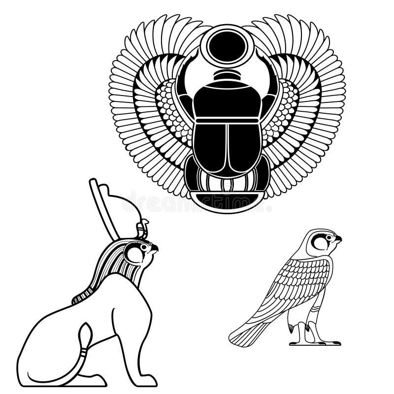 埃及古老标志 向量例证