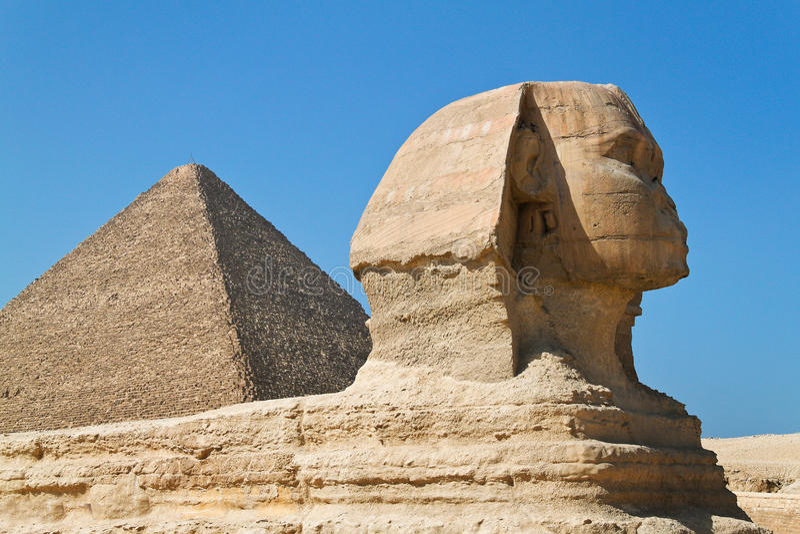 埃及吉萨棉狮身人面象 免版税库存图片