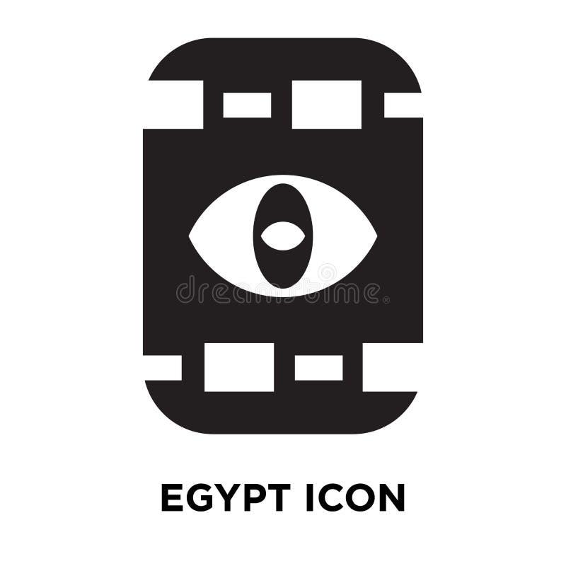 埃及在白色背景隔绝的象传染媒介,商标概念  皇族释放例证