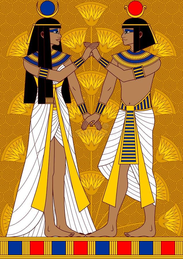 埃及夫妇 皇族释放例证