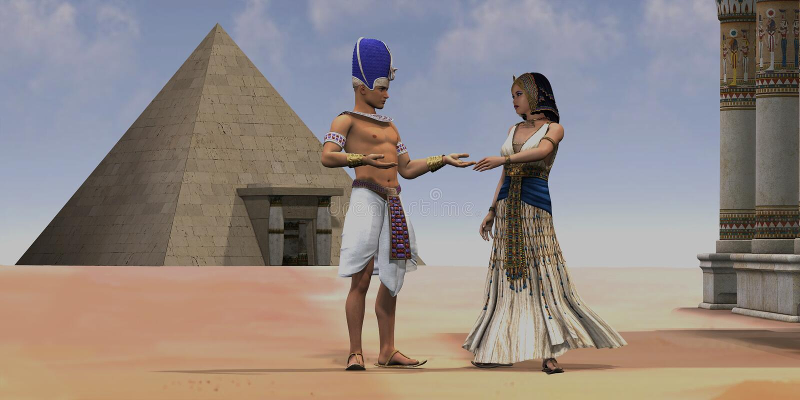 埃及女王法老王寺庙 免版税库存照片