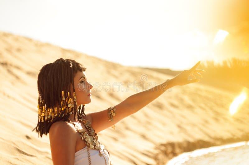 埃及女王/王后 免版税库存图片