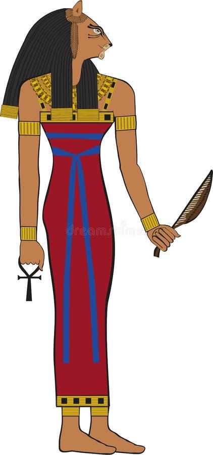 埃及女神Bastet 向量例证