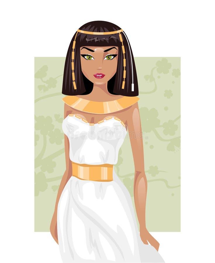 埃及妇女 也corel凹道例证向量 库存例证