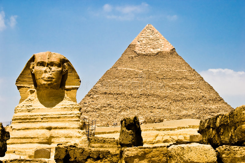 埃及守卫phara狮身人面象 免版税库存照片