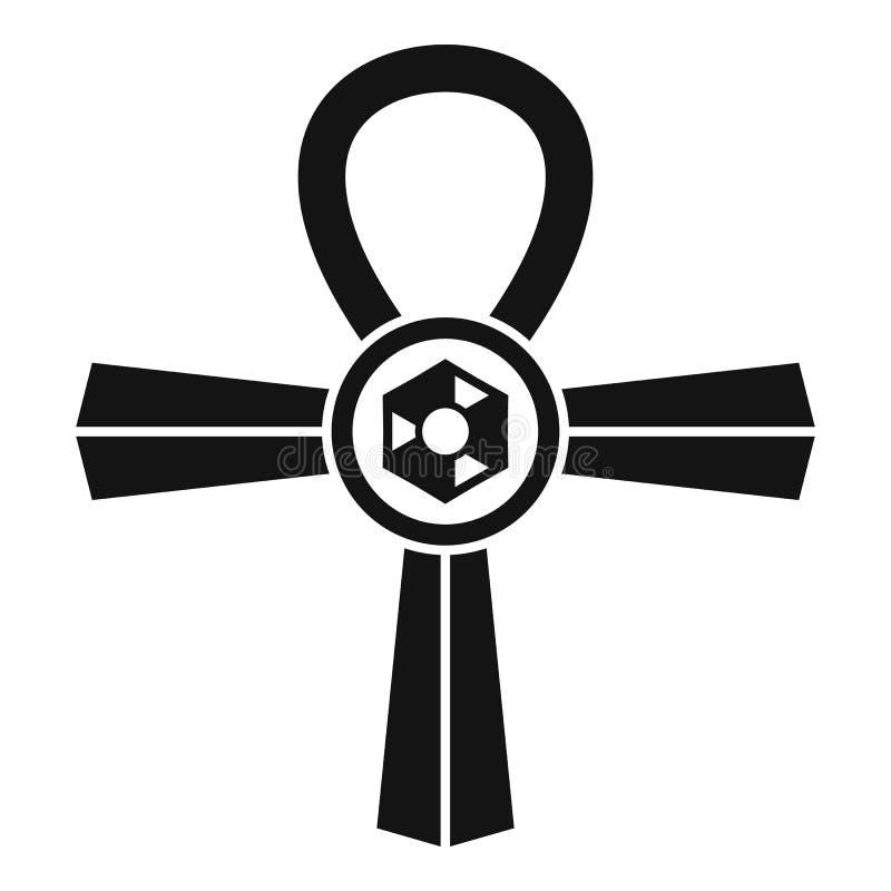 埃及安赫标志象,简单的样式 皇族释放例证