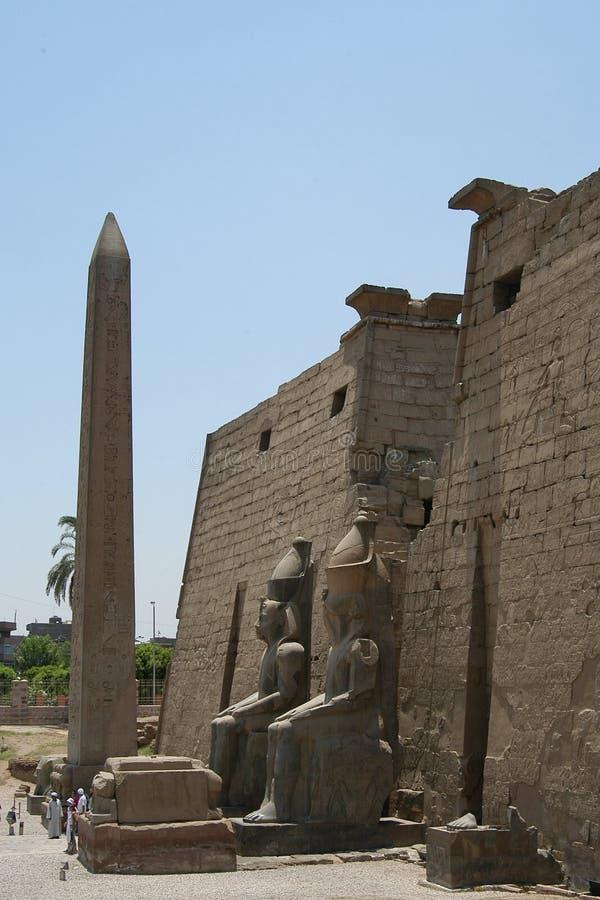 埃及寺庙 免版税库存图片