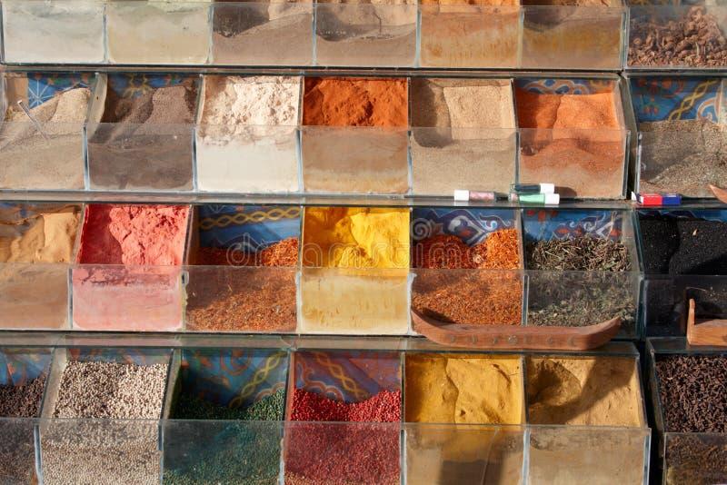 埃及市场香料 免版税库存照片