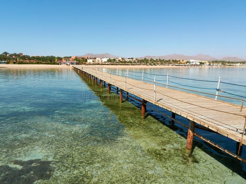 埃及手段海岸沙姆沙伊赫的典型的看法 库存图片