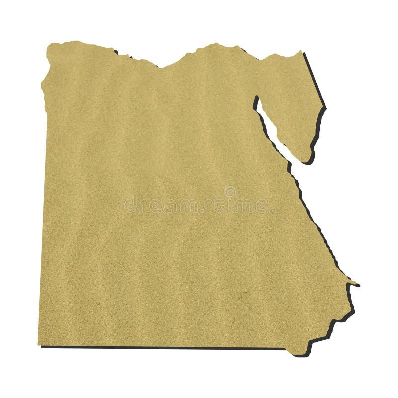 埃及映射沙子 皇族释放例证