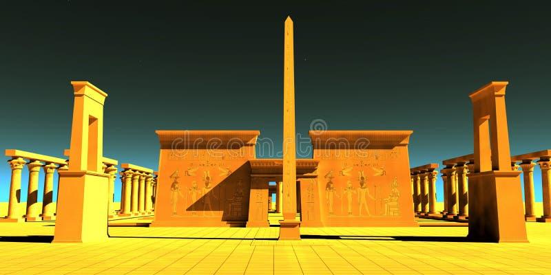 埃及暴君的寺庙 向量例证