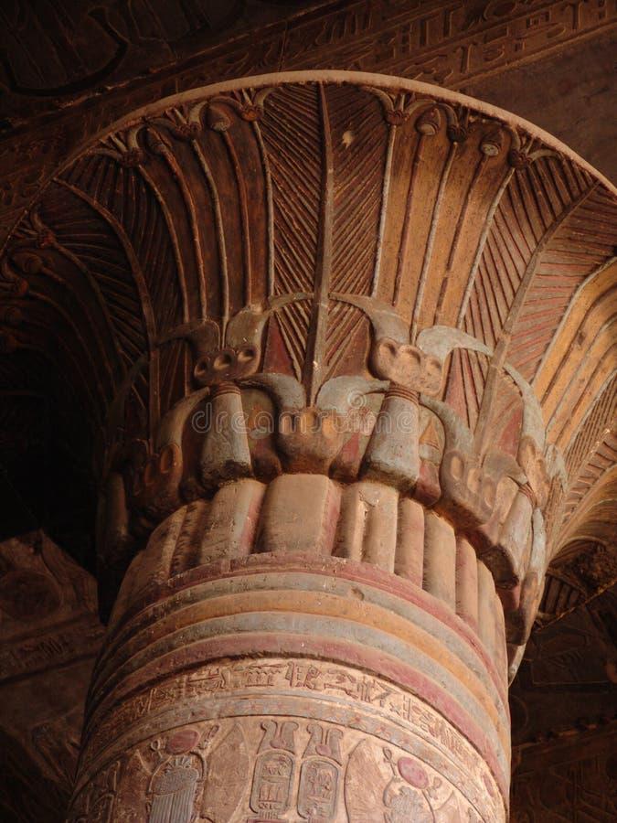 埃及柱子 库存照片