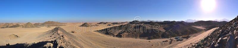 埃及沙漠全景 免版税库存照片