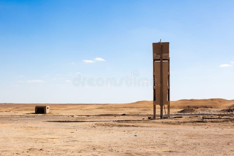 埃及沙漠场面 库存照片