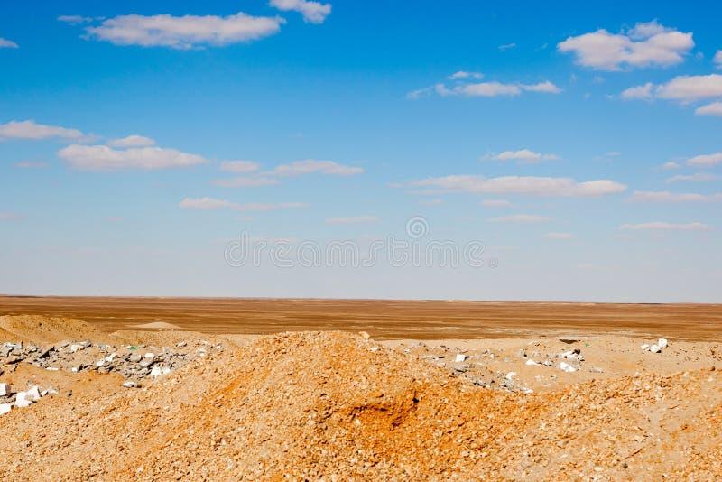 埃及沙漠场面 免版税库存图片