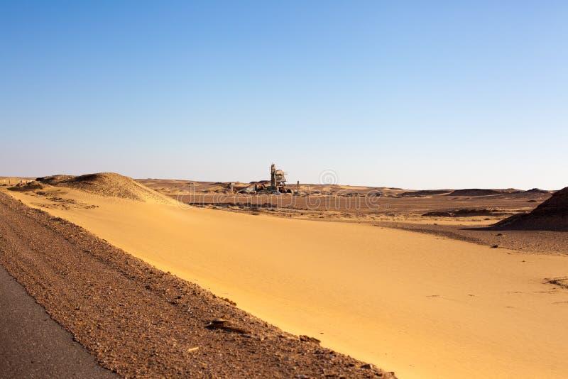 埃及沙漠场面 免版税库存照片